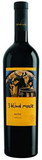 3 Blind Moose Merlot 750ml - Case of 12